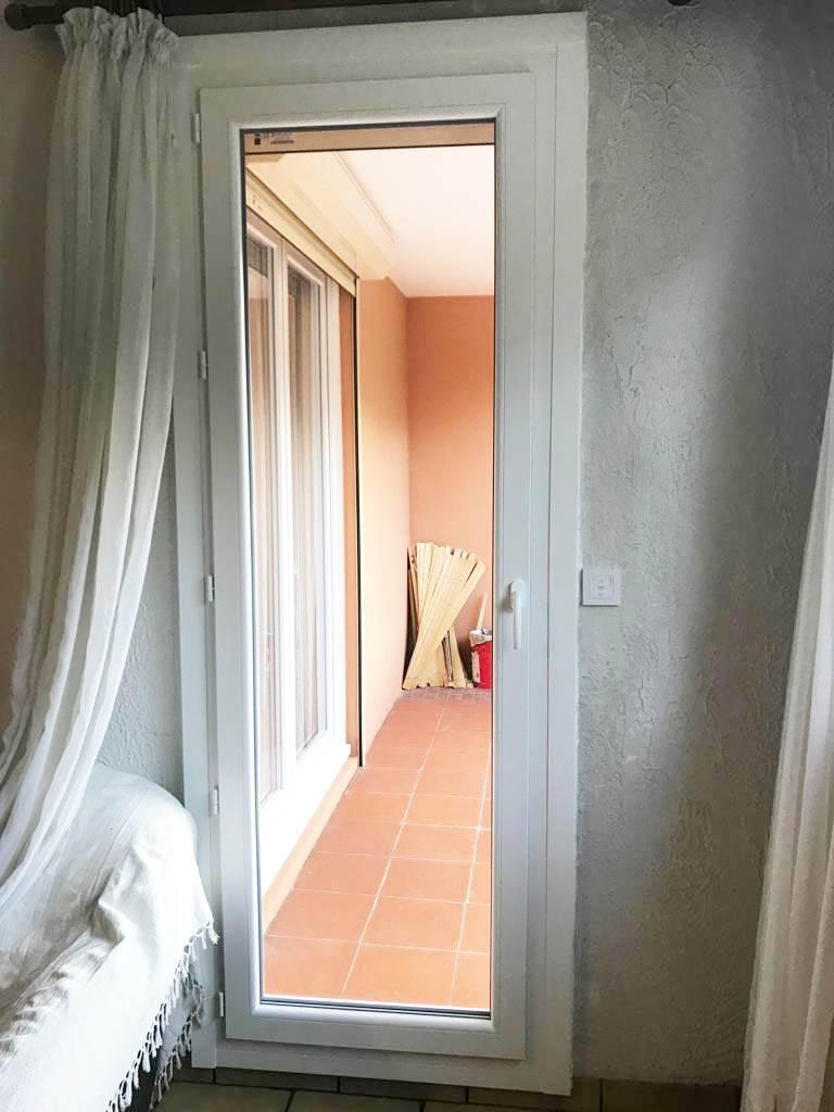 Porte Fenêtre 1 Vantail En Pvc Blanc Sur Mesure Posé Sur Marseille